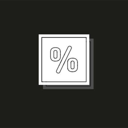 sale Discount percent - offer savings coupon, promotion shopping - special offer deal. White flat pictogram on black - simple icon Ilustração
