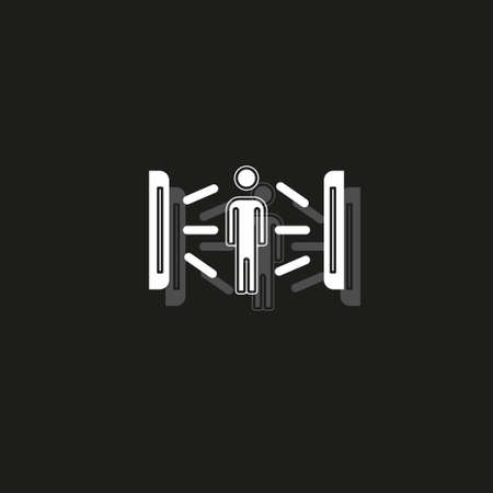 Solarium creative icon. Simple element illustration. solarium concept symbol design from Beauty collection. Can be used for web and mobile UI UX. White flat pictogram on black - simple icon