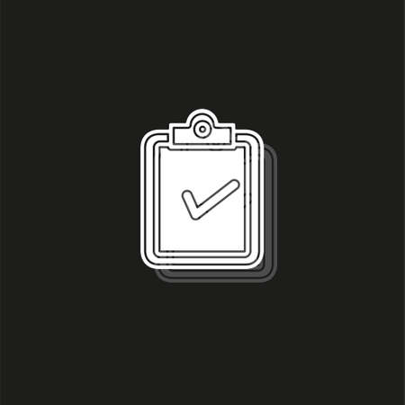 validation concept icon. Simple element illustration. validation concept symbol design from analytics set. Can be used for web and mobile UI UX. White flat pictogram on black - simple icon