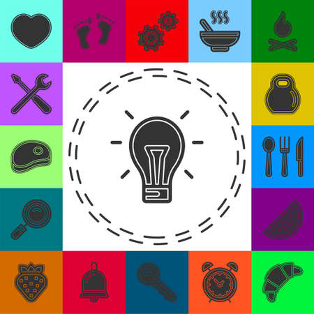 Colorful Simple Light Bulb icon