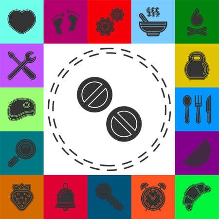 vector medicine illustration - Medical pills icon. Drugs sign, pharmacy symbol. Flat pictogram - simple icon
