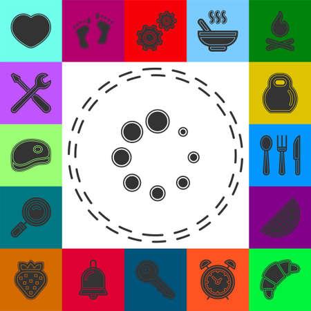 vector loading progress - computer graphic symbol isolated. Flat pictogram - simple icon 矢量图像
