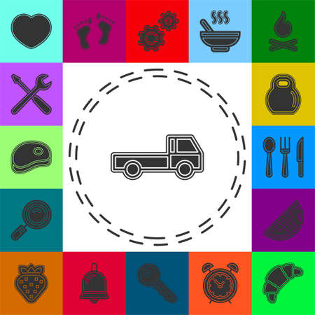 free shipping icon, delivery truck illustration isolated, delivery service sign - free delivery icon. Flat pictogram - simple icon