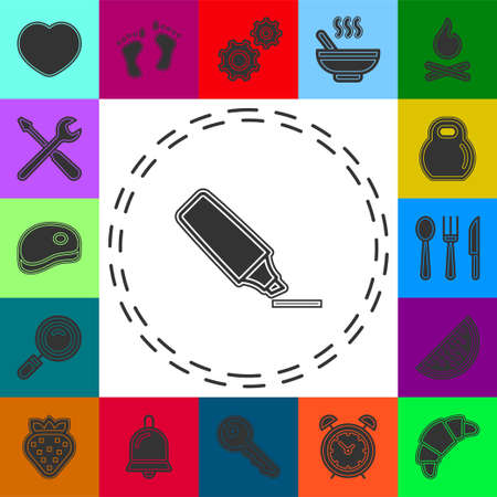 Marker base icon. Simple sign illustration. Marker symbol design from Workspace series. Can be used for web, print and mobile. highlighter pen. Flat pictogram - simple icon