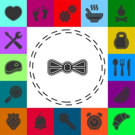 vector bow ribbon icon - ribbon bow illustration, holiday symbol - celebration element. Flat pictogram - simple icon
