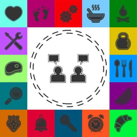 people management concept line icon. Simple element illustration. people management concept outline symbol design from Management set. Flat pictogram - simple icon