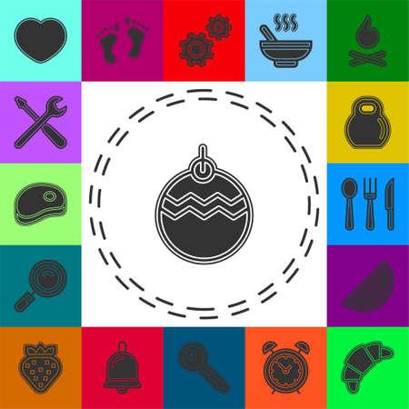 Christmas decorations icon. Logo element illustration. Christmas decorations symbol design collection. Simple Christmas decorations concept. Flat pictogram - simple icon