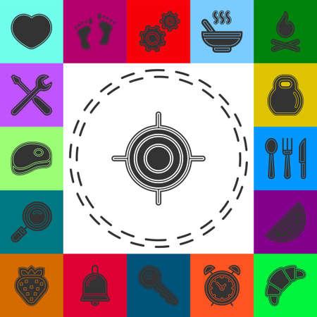 crosshairs icon - vector target aim, sniper symbol - weapon illustration. Flat pictogram - simple icon 矢量图像