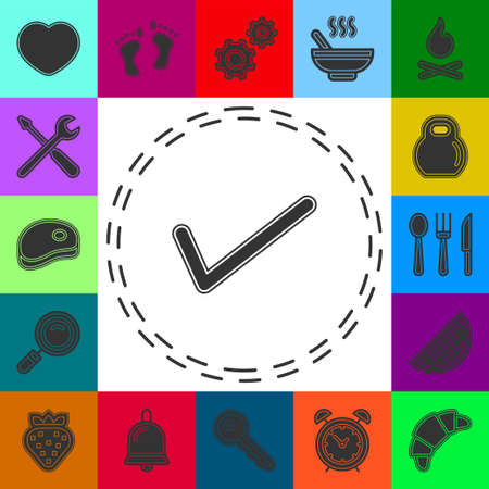 vector Check mark symbol - yes or ok - approved sign, vote checklist. Flat pictogram - simple icon