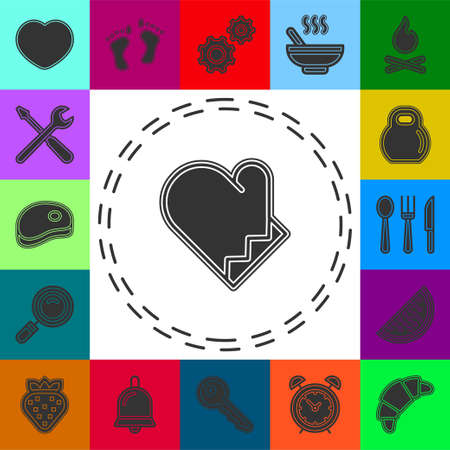cooking gloves icon - vector gloves illustration, gloves symbol. Flat pictogram - simple icon