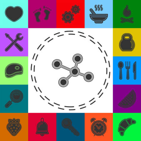 atom molecules, science and chemistry, chemical symbol. Flat pictogram - simple icon