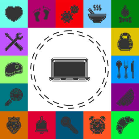 Laptop Icon Vector. Simple flat symbol. Laptop pictogram illustration on white background. Flat pictogram - simple icon