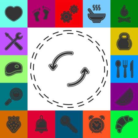 Vector reload arrow Icon. Flat arrow illustration. Flat pictogram - simple icon