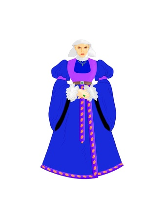 Beautiful lady with luxury dress