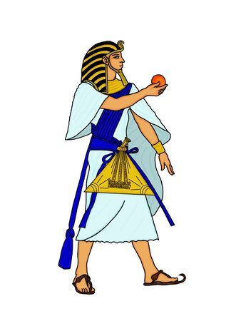 egyptian gods: The Egyptian and the sphere magical Stock Photo