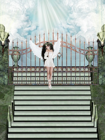 stairway to heaven: Angel with the key of heaven