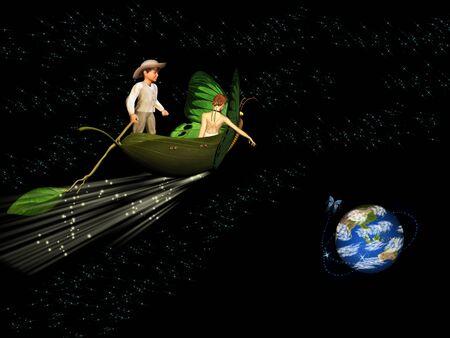 The magical travel through space photo