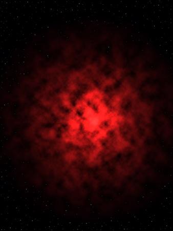 The Galactic Nebula with Stars photo