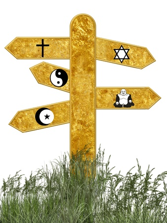 jewish faith: some of the religions most big of the world Stock Photo