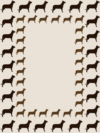 catling: Dogs frame. Frame with silhouette of dogs.