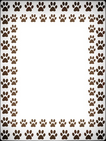 catling:  Prints of cat. Frame with prints of cat.