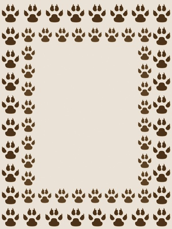 catling: Prints of dogs. Frame with prints of dogs.