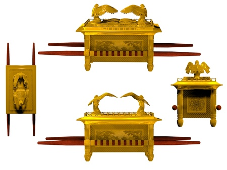 tabernacle: Set of 4 Arks of the Covenant from the Bible.