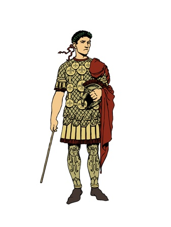 The great Roman general with a armour.