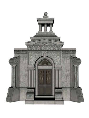 Vault in 3d over a white background