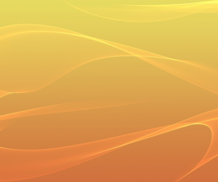 Orange smooth abstract background with shining light  photo