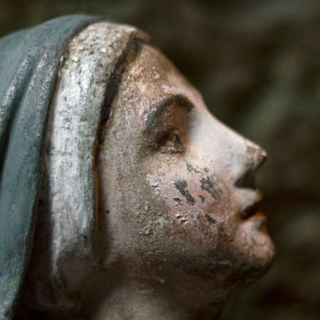 The face of the Virgin Mary in prayer photo