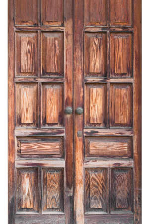 old wooden door: Front view of an old wooden door.
