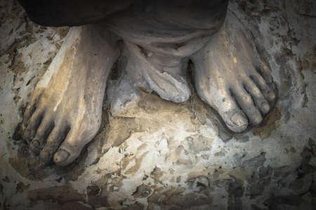Jezus: Marmurowa rzeźba przedstawiająca Jezusa Zdjęcie Seryjne