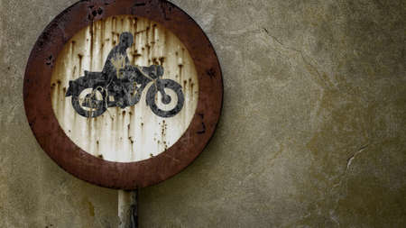 no access: No access to bikers blackberries rusty. Stock Photo