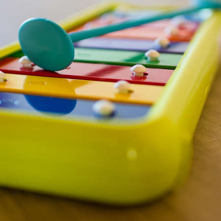 A small xylophone for children, in the scale of C. Banque d'images