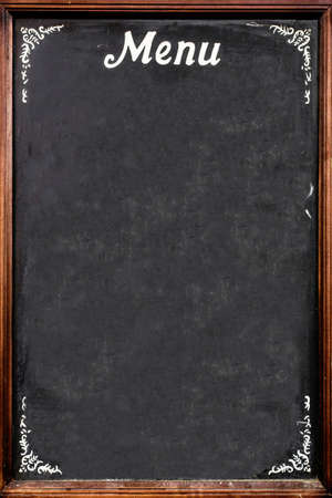 A blackboard used as menu, in an Italian restaurant. Standard-Bild