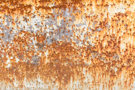 oxidized: Front view of a panel rusted and oxidized. Stock Photo