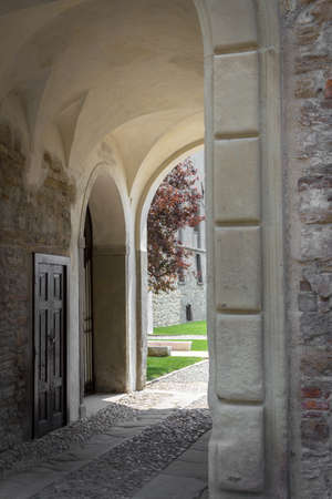 passageway: An ancient passageway of a sanctuary Italian, from the medieval times. Editorial