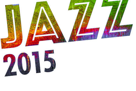 sounding: Graphic processing of the word jazz combined all-2015.