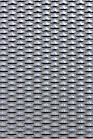 perforated: Perforated panel, painted with gloss gray tint.