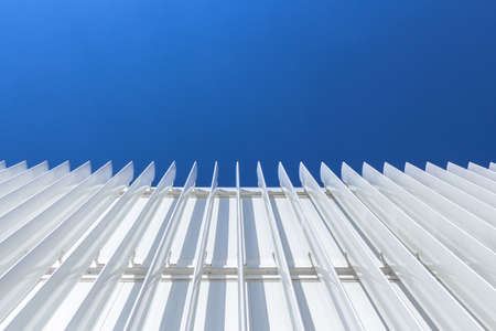 minimal: Bottom view of a facade of a building minimal style