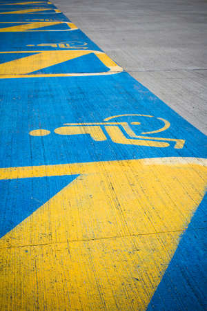 disabled access: Some disabled parkings marked by special symbols.