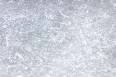rink: Top view of a sheet of ice scratched.