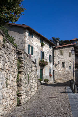 glimpse: Glimpse of an ancient Italian village located near Milan.