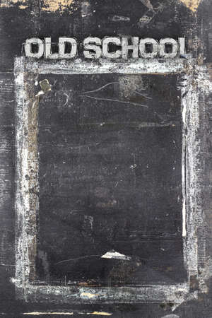 ruined: Blackboard in grunge style, scratched and ruined. Stock Photo