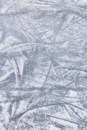 Details of an ice skating rink, with marks and scratches of skate blades. Reklamní fotografie