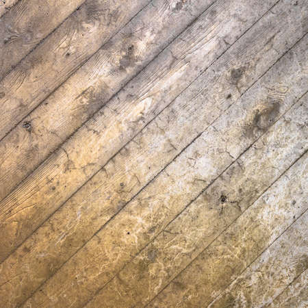characterized: Background characterized by wooden planks deteriorated by time and by the elements. Stock Photo