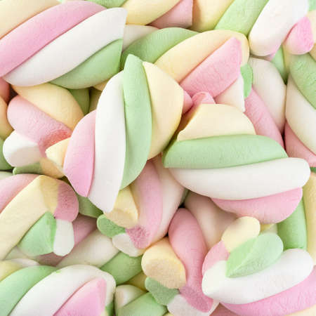Colorful marshmallows candy for background uses Banque d'images