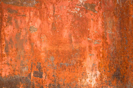 oxidized: Bright orange panel with oxidized or rusty marks produce a colorful painted surface that is full of texture and patterns.