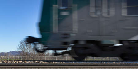 intentionally: Photo blurred intentionally to show the motion of the train.
